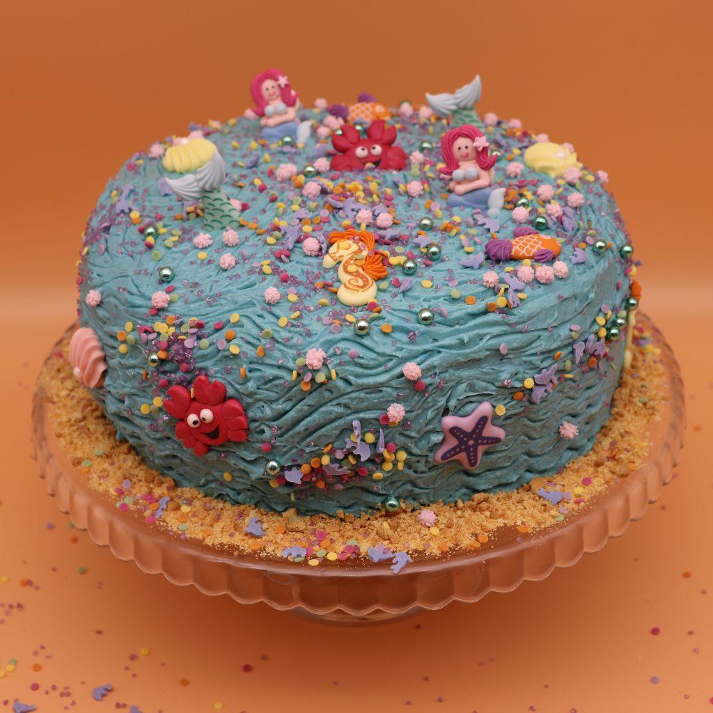 Backset für Meerjungfrau & Freunde Torte — Easy Backen